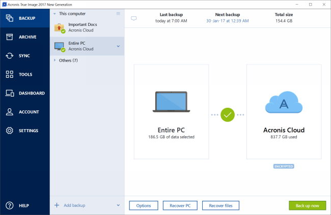 Acronis True Image New Generation Screen shot
