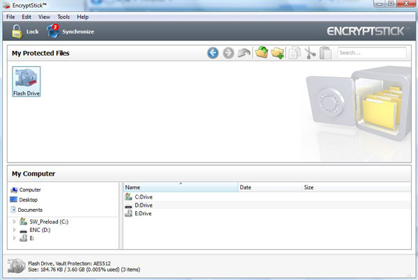 EncryptStick 6.1.2W Screen shot