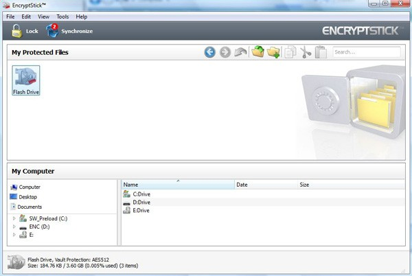 EncryptStick Linux 6.0.18L Screen shot