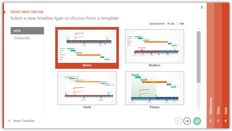 Free, award-winning PowerPoint.add-in for making timeline and Gantt charts fast.